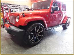lowered 4 door jeep wrangler 2016 jeep wrangler sahara lowered riding on 22 inch custom rims