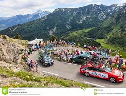 Pyrenees Mountains Map Technical Car In Pyrenees Mountains Editorial Photo Image 33059386