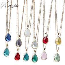 diy stone pendant necklace images Wholesale xinyao birthstone natural stone pendant necklace druzy jpg