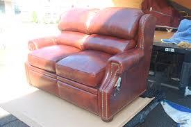 by 912 70 reid wall hugger loveseat full recline in leather