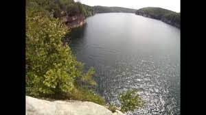 West Virginia snorkeling images Cliff diving at summersville lake wv jpg