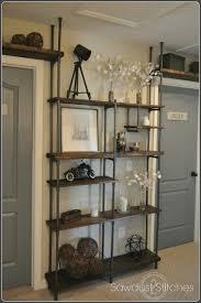 Cheap Sturdy Bookshelves by Remodelaholic Build A Budget Friendly Industrial Shelf Using Pvc