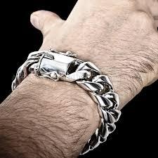cuban link bracelet men images 20mm silver cuban bracelet jpg