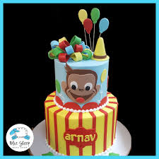 curious george birthday cake curious george birthday cake blue sheep bake shop