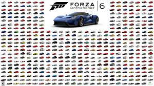 cobra motorsport vauxhall the full list of cars in forza motorsport 6 infographic