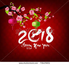 greeting for new year happy new year 2018 greeting card stock illustration 736478851