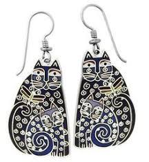laurel burch jewelry laurel burch cat wire earrings laurel burch