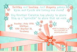 baby sprinkle invitations sprinkle invitation turquoise coral blooms shower