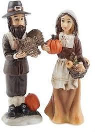 pilgrim mini thanksgiving figurines set of 2 ebay