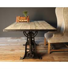 Barn Wood Sofa Table by Monterrey Industrial Loft Iron Reclaimed Wood Adjustable Dining