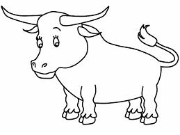 coloriage taureau à imprimer gratuit sur cocoloriage espagne