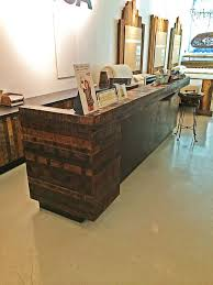 Wood Reception Desk by Commercial Furniture