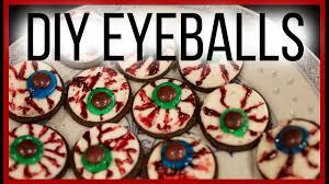 eyeball decorations halloween diy easy halloween oreo eyeball treats youtube
