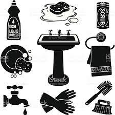 Kitchen Sink Clip Art Sink Icon Set Stock Vector Art 477670995 Istock