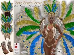mardi gras carnival costumes second marketplace samba showgirl peacock complete