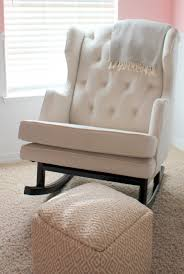 White Rocking Chair Baby Nursery Fantastic Glider Rocking Chair Idea With Cozy White