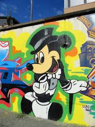 mickey mouse art on train graffiti mickey