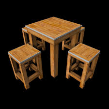 Wooden Table Chairs Small Wooden Table Set Model