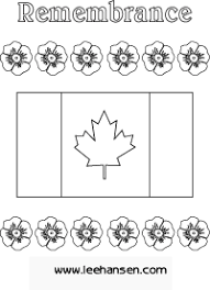 printable remembrance canada flag coloring canada