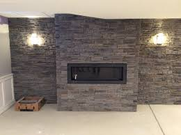 gas fireplace u0026 stone wall black hat chimney gas inserts
