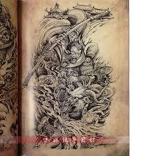 2015 newest tattoo book dragon koi suzaku hannya god buddha tattoo