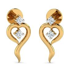 modern gold stud earrings 29 best s day heart earrings by aurobliss images on