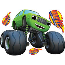 blaze monster machines pickle mini monster truck wall