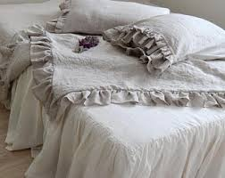 French Bed Linens Duvet Covers Linen Duvet Cover Rustic Style Ruffled Duvet Cover And