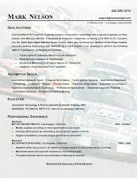 auto mechanic resume free auto mechanic resume templates best images on exles