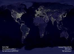 World At Night Map Let There Be Dark Indonesia Expat