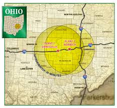 Athens Ohio Map by Adams Bros Concrete Products Zanesville Ohio Delivery