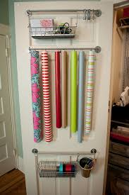 christmas door wrapping paper 33 ways to organize your gift wrapping essentials