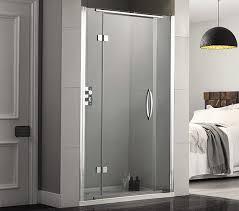 aquadart inline 1200mm recess hinged shower door aq1013