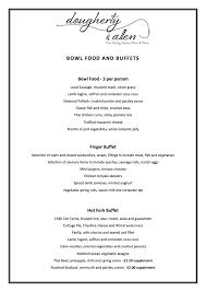 Sample Buffet Menus by Dougherty U0026 Allen