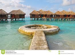 luxury overwater vacation resort on bora bora stock images image