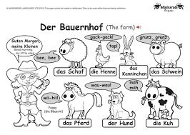 ks1 german level 1 farm and zoo animals by maskaradelanguages