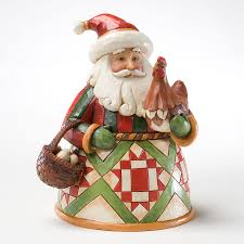 jim shore thanksgiving figurines enesco jim shore small santa with rooster item 4022914 ebay