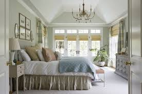 French Country Roman Shades - mirrored wall sconces bedroom traditional with natural lighting