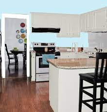 brilliant blue kitchen white cabinets and features adorned with
