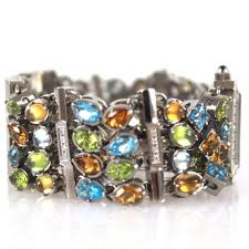 multi colored stones bracelet images Corum lady 39 s multicolored semi precious stones bracelet watch jpg