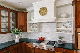 Tone Kitchen Cabinets Design Ideas - Backsplash for cherry cabinets
