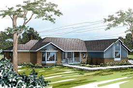u shaped ranch houses houseplans com house plans elevation hahnow
