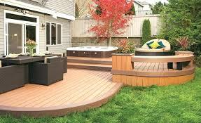 Patio Deck Ideas Backyard Small Backyards With Decks Great Small Backyard Deck Patio Ideas