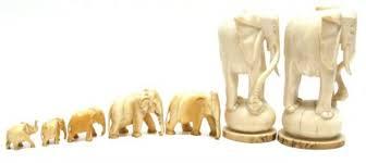 antique ivory elephant figurines