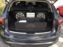 infiniti qx60 trunk space qx70 09 sub and amp upgrade infiniti scene qx q forums
