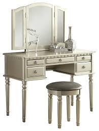 Bedroom Vanity Table Bedroom Vanity Sets 3 Bedroom Vanity Set Chagne Silver
