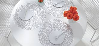 Chilewich Outdoor Rugs by Chilewich Round Placemats In Silver Pebble Perfect For Outdoor