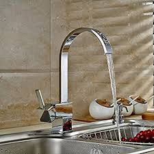 auralum classic square kitchen water tap faucet sink with nickel