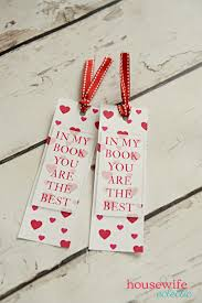 bookmark valentine with free printable housewife eclectic