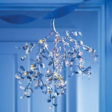 Chandelier Cleaner Recipe Silver Mistletoe Chandelier Martha Stewart